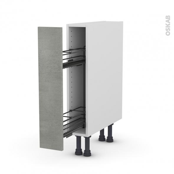 meuble de cuisine range pice epoxy fakto b ton 1 porte l15 x h70 x p58 cm oskab. Black Bedroom Furniture Sets. Home Design Ideas