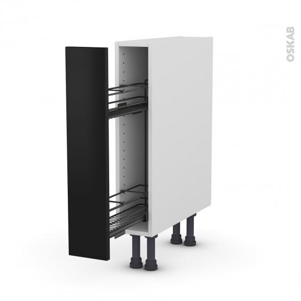 meuble de cuisine range pice epoxy ginko noir 1 porte l15 x h70 x p58 cm oskab. Black Bedroom Furniture Sets. Home Design Ideas