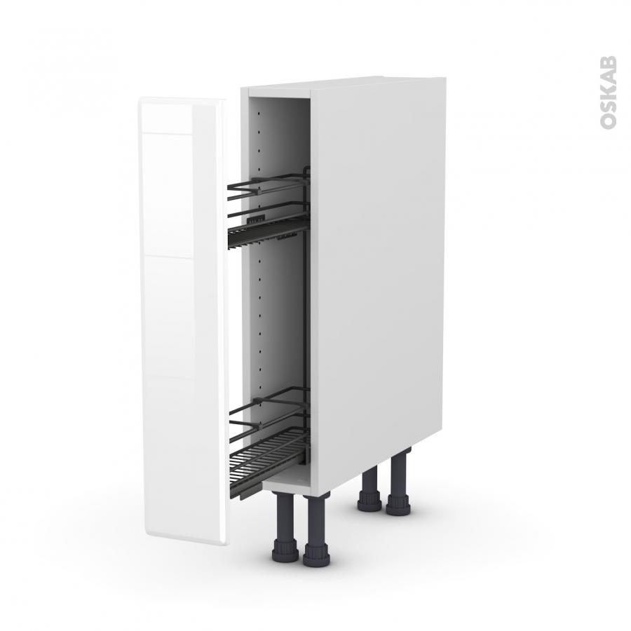 meuble de cuisine range pice epoxy iris blanc 1 porte l15 x h70 x p58 cm oskab. Black Bedroom Furniture Sets. Home Design Ideas