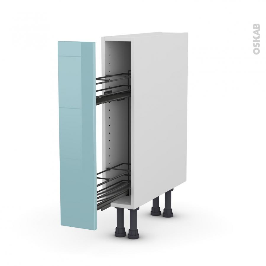 meuble de cuisine range pice epoxy keria bleu 1 porte l15. Black Bedroom Furniture Sets. Home Design Ideas