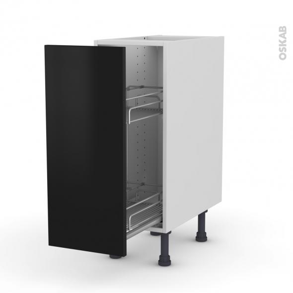 ginko noir meuble range pice epoxy 1 porte l30xh70xp58. Black Bedroom Furniture Sets. Home Design Ideas