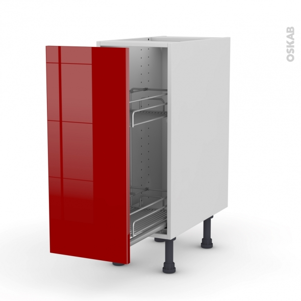 meuble range pice epoxy 1 porte l30xh70xp58 stecia rouge. Black Bedroom Furniture Sets. Home Design Ideas