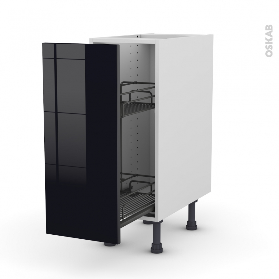 meuble de cuisine range pice epoxy keria noir 1 porte l30. Black Bedroom Furniture Sets. Home Design Ideas