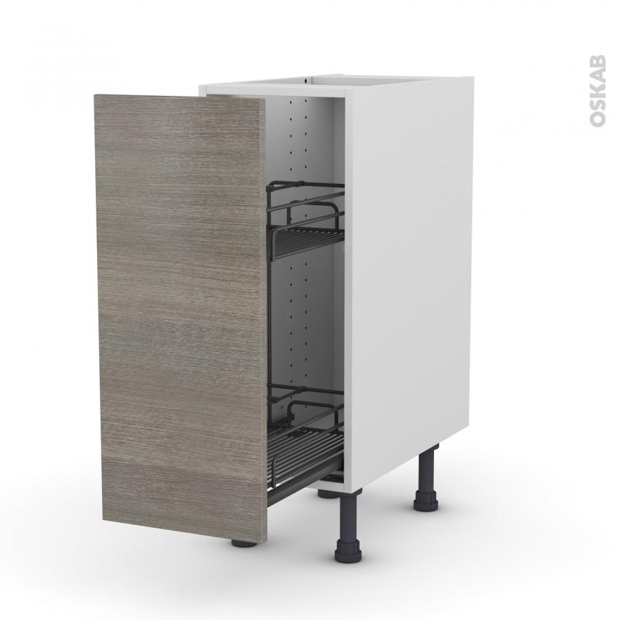 meuble de cuisine range pice epoxy stilo noyer naturel 1 porte l30 x h70 x p58 cm oskab. Black Bedroom Furniture Sets. Home Design Ideas