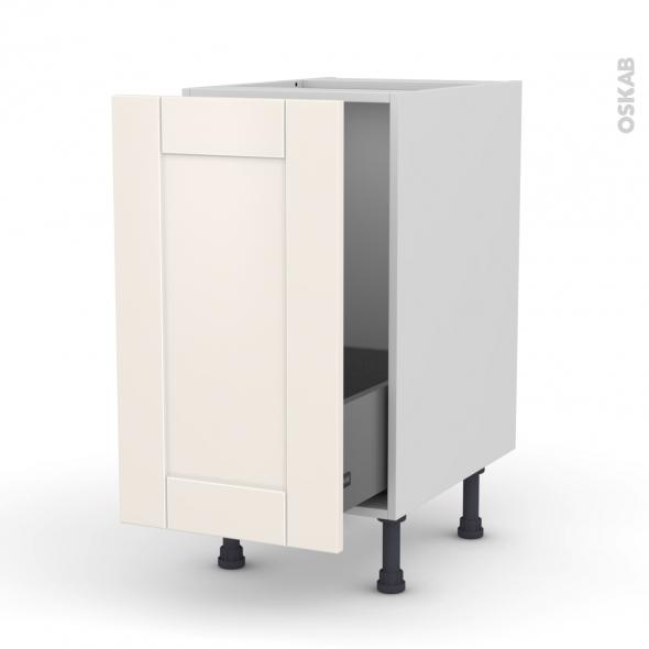 Meuble de cuisine sous vier filipen ivoire 1 porte coulissante l40 x h70 x p58 cm oskab - Porte meuble sous evier cuisine ...