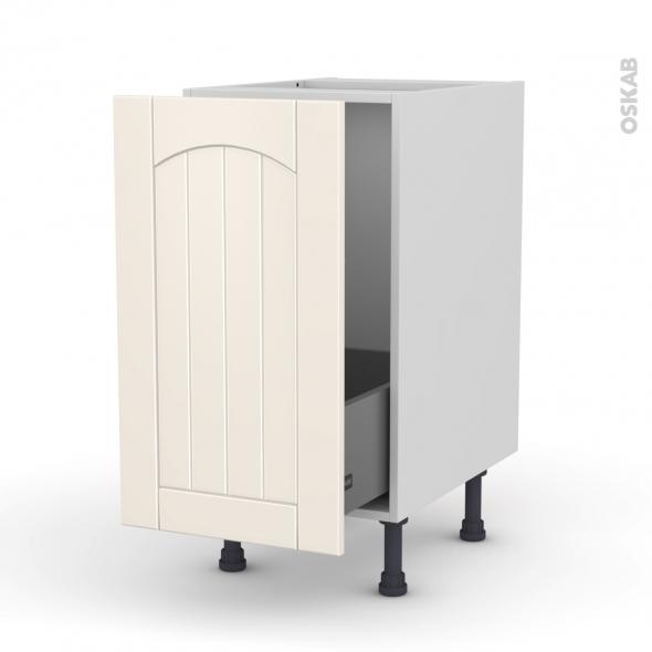 Silen ivoire meuble sous vier 1 porte coulissante for Meuble 1 porte sous evier