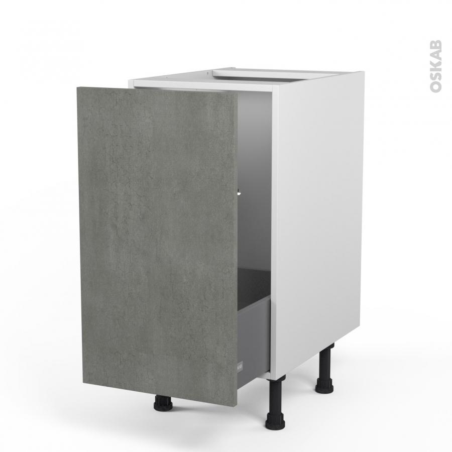 meuble de cuisine sous vier fakto b ton 1 porte coulissante l40 x h70 x p58 cm oskab. Black Bedroom Furniture Sets. Home Design Ideas