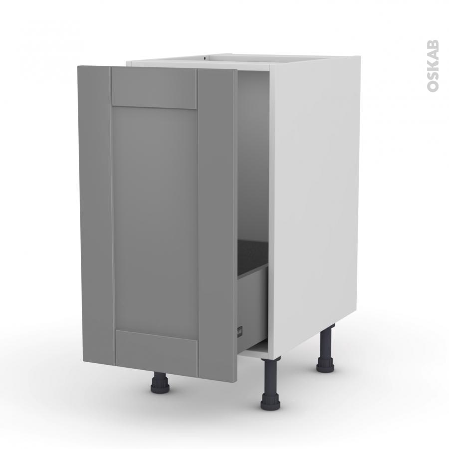 meuble de cuisine sous vier filipen gris 1 porte coulissante l40 x h70 x p58 cm oskab. Black Bedroom Furniture Sets. Home Design Ideas