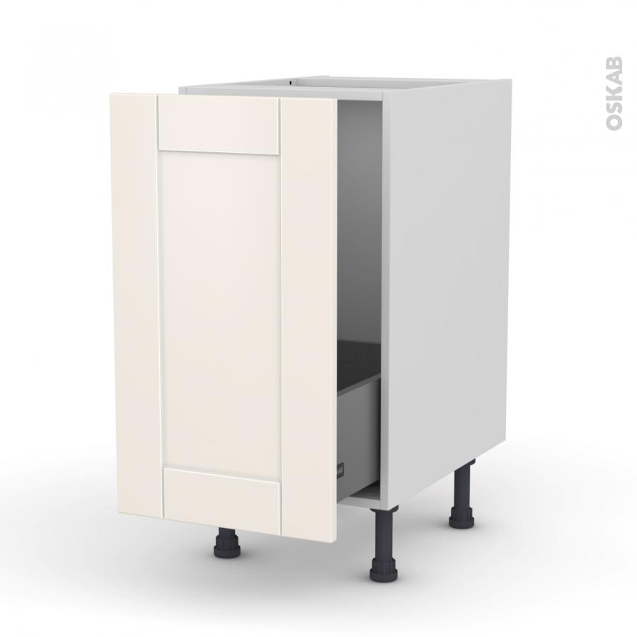 meuble de cuisine sous vier filipen ivoire 1 porte coulissante l40 x h70 x p58 cm oskab. Black Bedroom Furniture Sets. Home Design Ideas