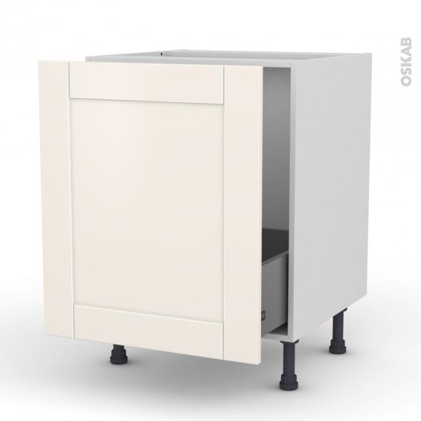 Filipen ivoire meuble sous vier 1 porte coulissante for Meuble 1 porte sous evier