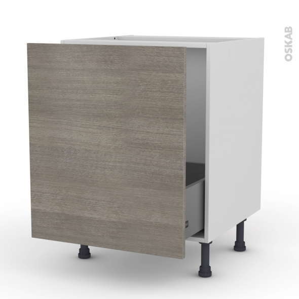Meuble sous vier 1 porte coulissante l60xh70xp58 stilo - Meuble de cuisine avec porte coulissante ...