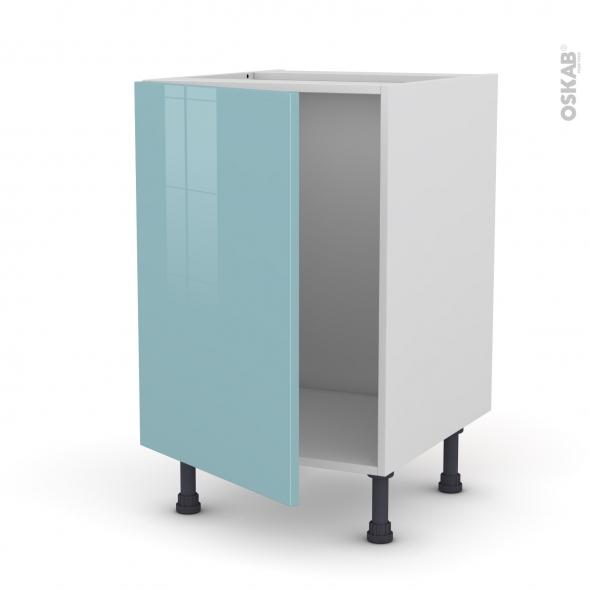 Meuble de cuisine sous vier keria bleu 1 porte l50 x h70 - Meuble sous evier 50 cm ...