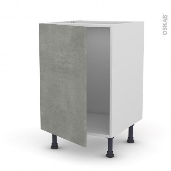 Meuble de cuisine sous vier fakto b ton 1 porte l50 x h70 - Meuble sous evier 50 cm ...