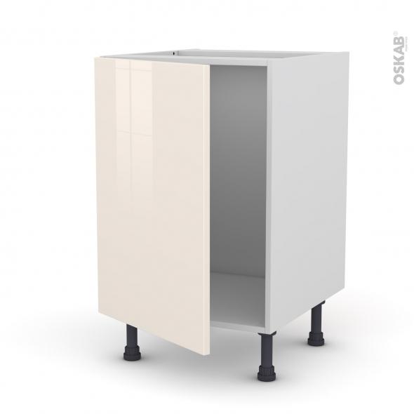 Meuble de cuisine sous vier keria ivoire 1 porte l50 x for Meuble porte evier