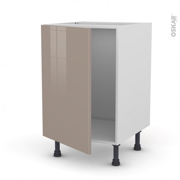 Meuble de cuisine sous vier keria moka 1 porte l50 x h70 for Modele porte de cuisine