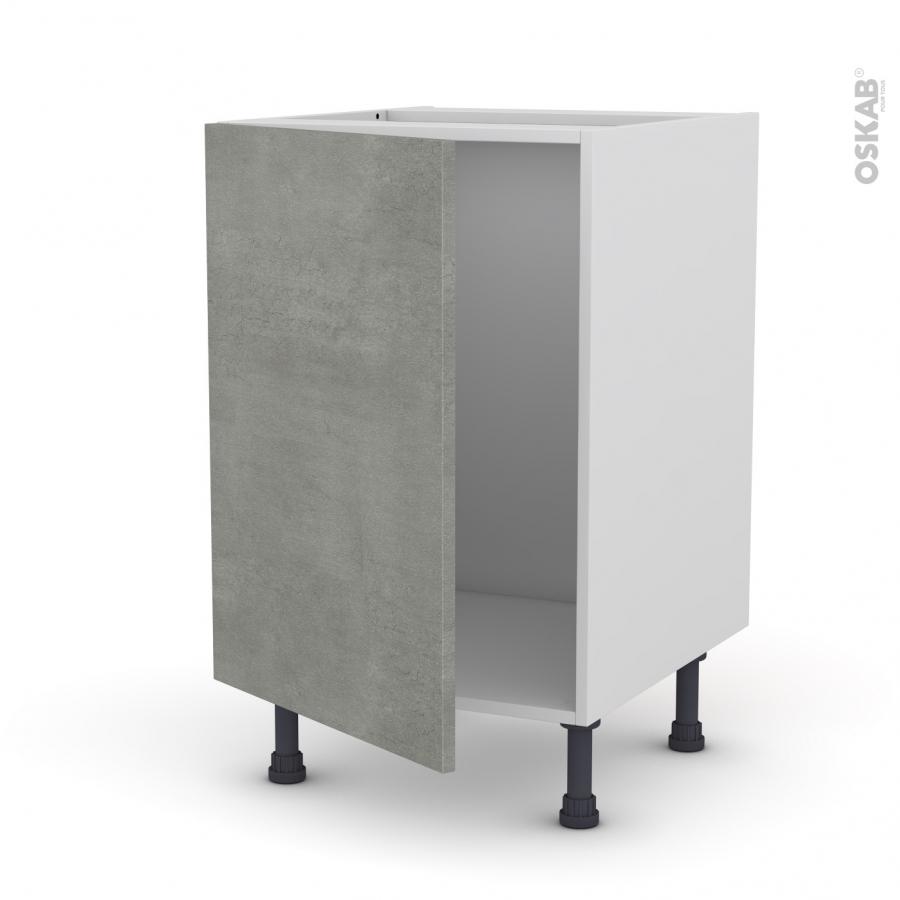 meuble de cuisine sous vier fakto b ton 1 porte l50 x h70 x p58 cm oskab. Black Bedroom Furniture Sets. Home Design Ideas