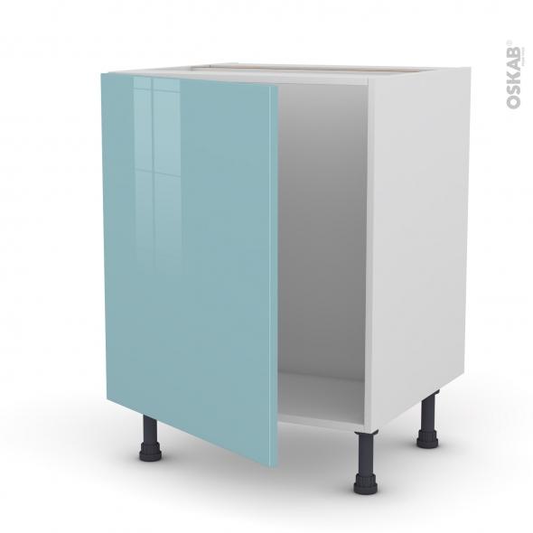 Meuble de cuisine sous vier keria bleu 1 porte l60 x h70 for Evier cuisine largeur 60 cm