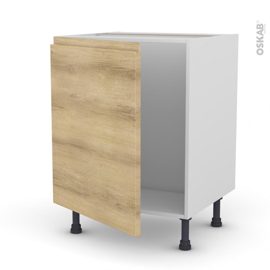 Meuble de cuisine sous vier ipoma ch ne naturel 1 porte - Porte meuble sous evier cuisine ...