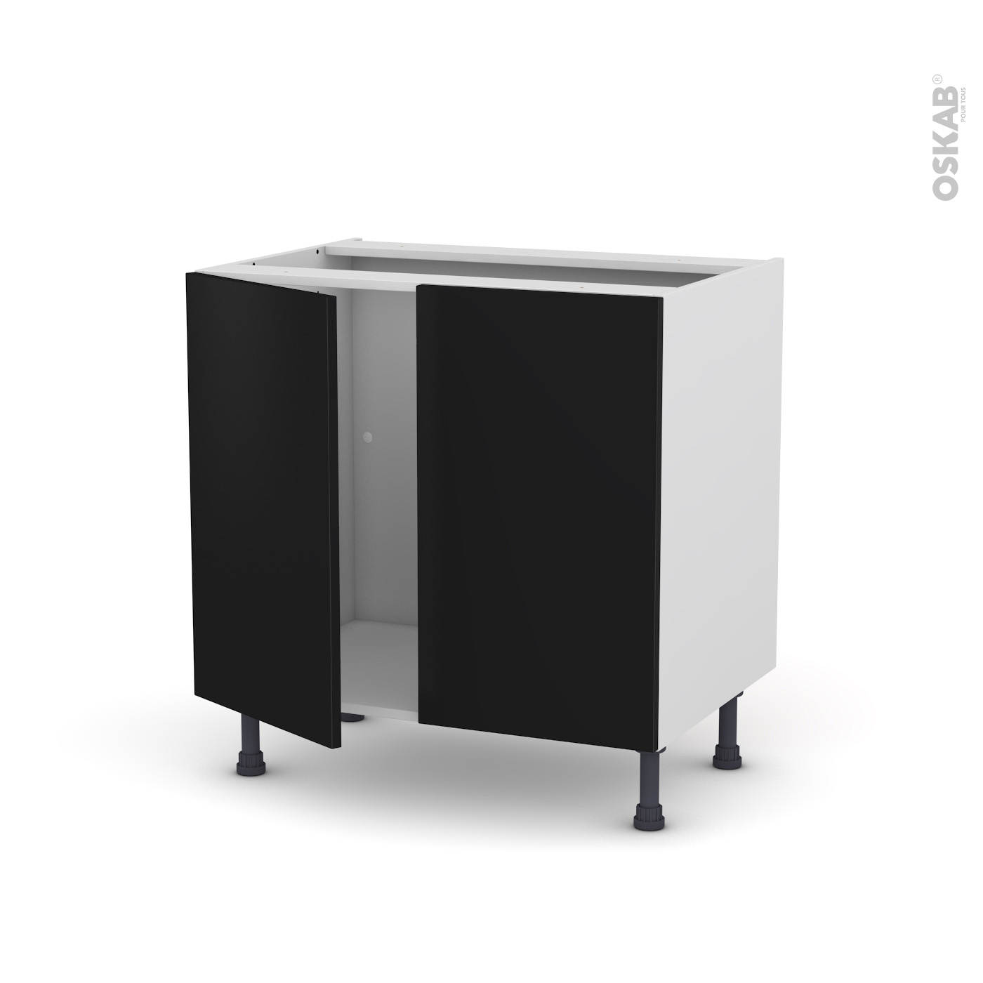 meuble de cuisine noir. Black Bedroom Furniture Sets. Home Design Ideas