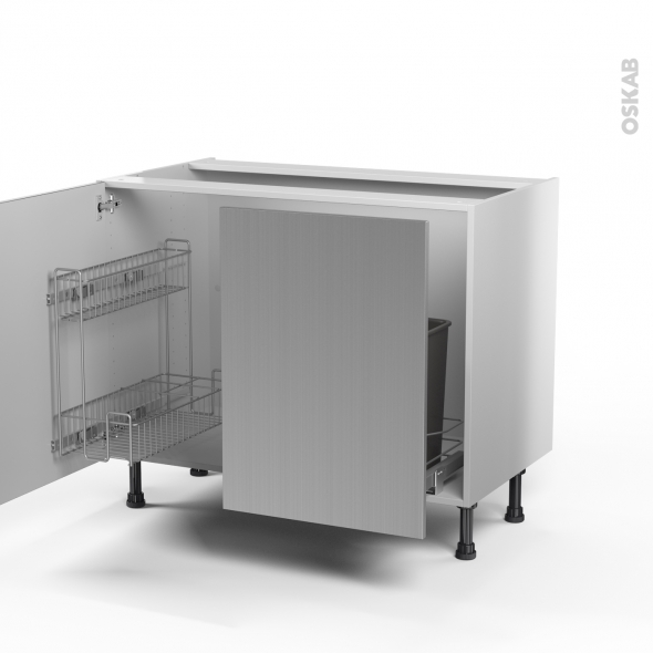Table rabattable cuisine paris meuble sous evier inox for Table inox avec evier
