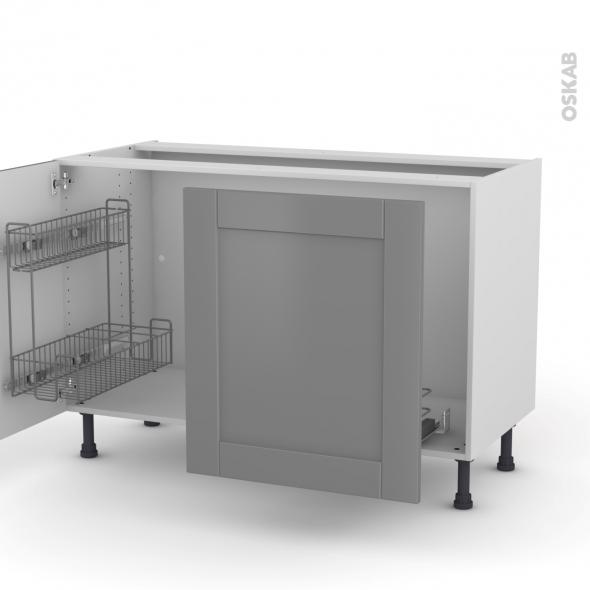 meuble sous vier 2 portes lessiviel poubelle coulissante. Black Bedroom Furniture Sets. Home Design Ideas