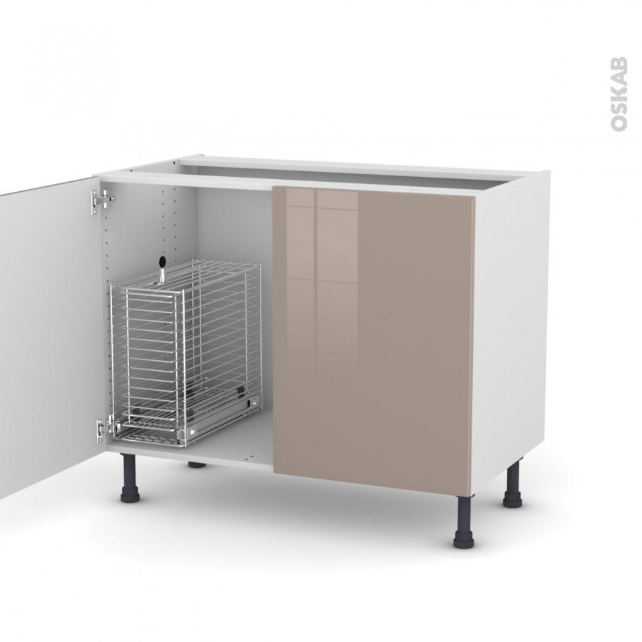 keria moka meuble sous vier 2 portes rangement coulissant s curit enfant l100xh70xp58 oskab. Black Bedroom Furniture Sets. Home Design Ideas