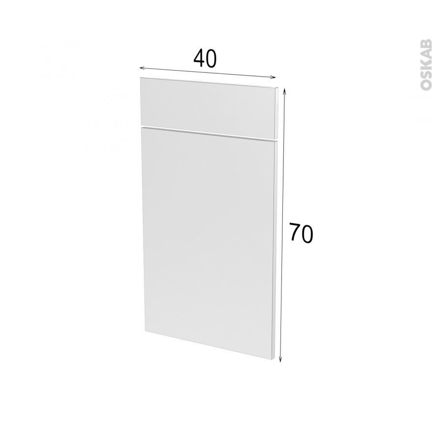 Fa ades de cuisine 1 porte 1 tiroir n 51 ipoma blanc for Modele porte cuisine