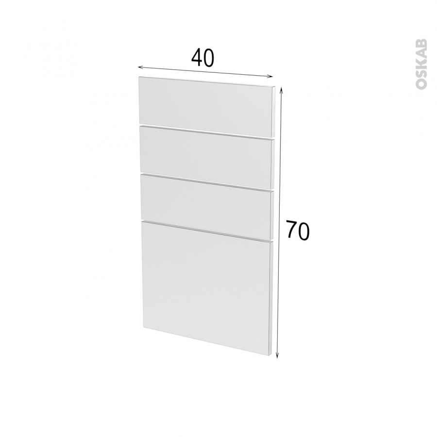 fa ades de cuisine 4 tiroirs n 53 ginko noir l40 x h70 cm. Black Bedroom Furniture Sets. Home Design Ideas