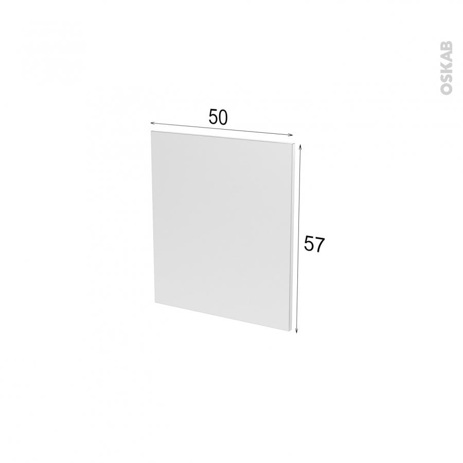 Fa ades de cuisine porte n 15 ipoma blanc l50 x h57 cm oskab for Comfacade de cuisine seule
