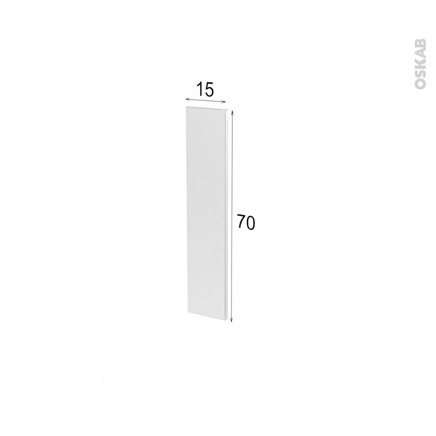 Fa ade de cuisine porte n 17 ginko taupe l15 x h70 cm oskab for Modele porte cuisine