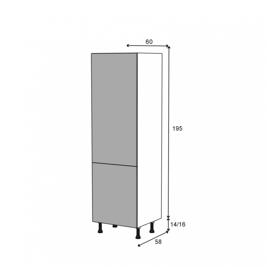 armoire frigo n 2721 2 portes l60xh195xp58 ginko gris oskab. Black Bedroom Furniture Sets. Home Design Ideas