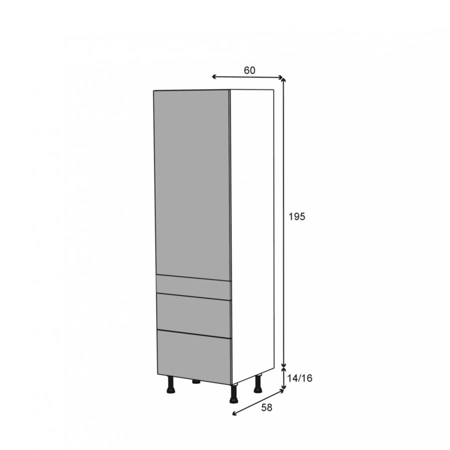 Colonne de cuisine n 2758 armoire tag re keria bleu 3 for Colonne cuisine tiroir