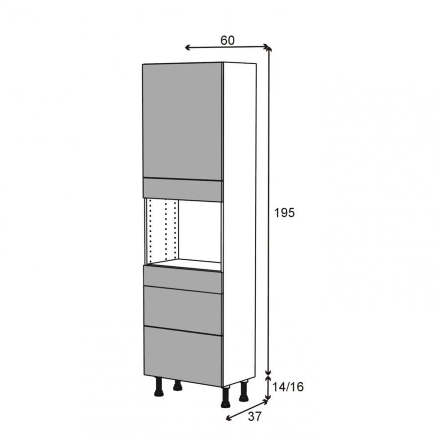 Colonne de cuisine n 2158 four encastrable niche 45 ginko - Four encastrable porte tiroir ...
