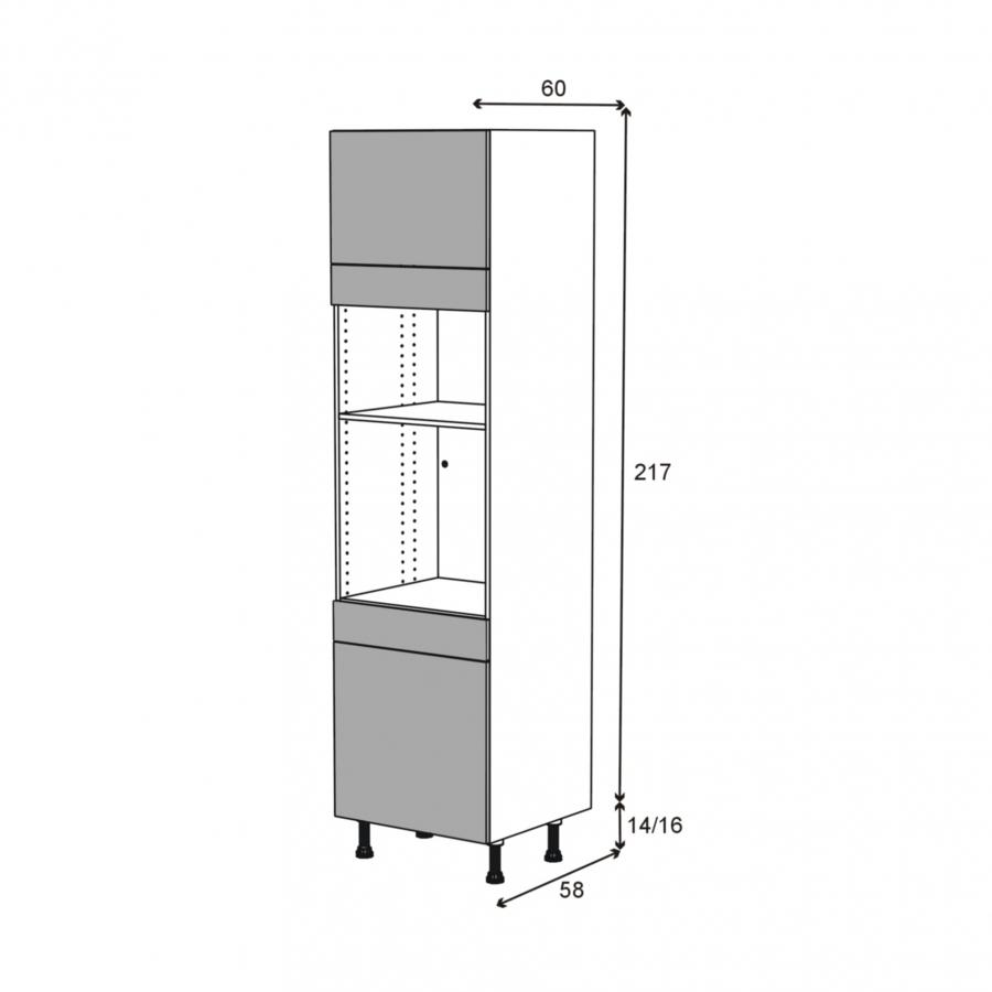 Colonne de cuisine n 1356 four mo encastrable niche 36 38 for Modele porte cuisine