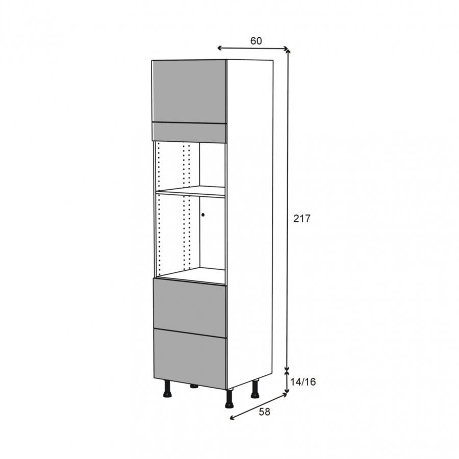 colonne de cuisine n 1357 four mo encastrable niche 36 38. Black Bedroom Furniture Sets. Home Design Ideas