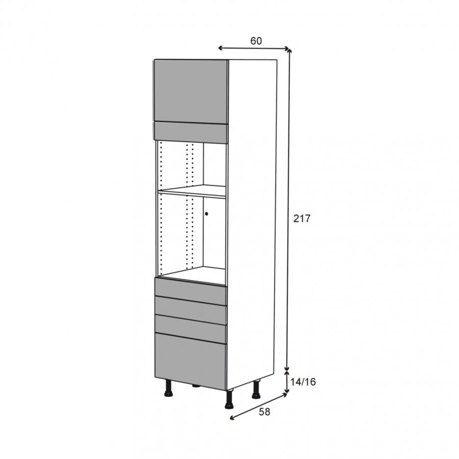 colonne de cuisine n 1359 four mo encastrable niche 36 38. Black Bedroom Furniture Sets. Home Design Ideas
