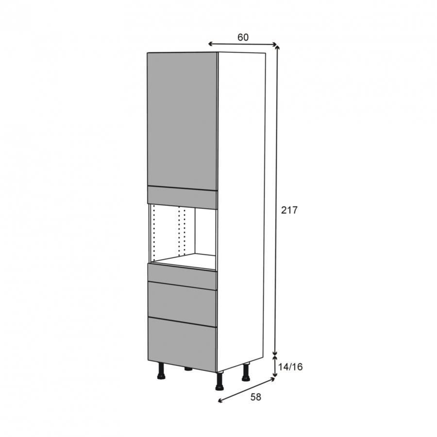colonne de cuisine n 2458 four encastrable niche 45. Black Bedroom Furniture Sets. Home Design Ideas