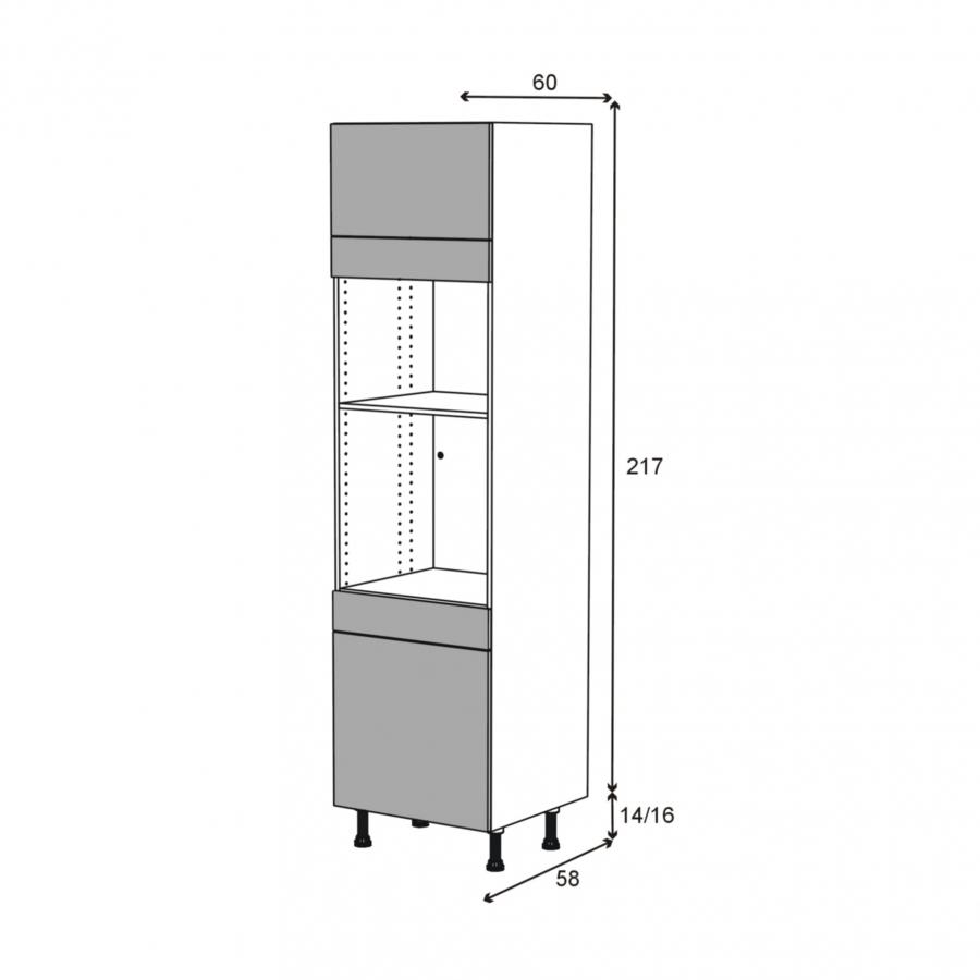 Colonne four mo 45 n 1056 1 abattant 1 porte 1 tiroir Boitier relevant pour double porte de meuble cuisine