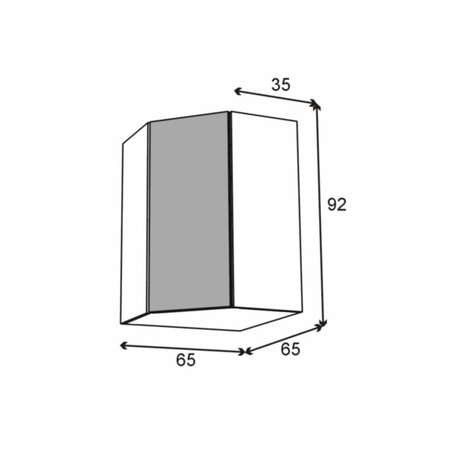 Meuble Angle Haut 1 Porte N 23 L40 L65xh92xp37 Stecia