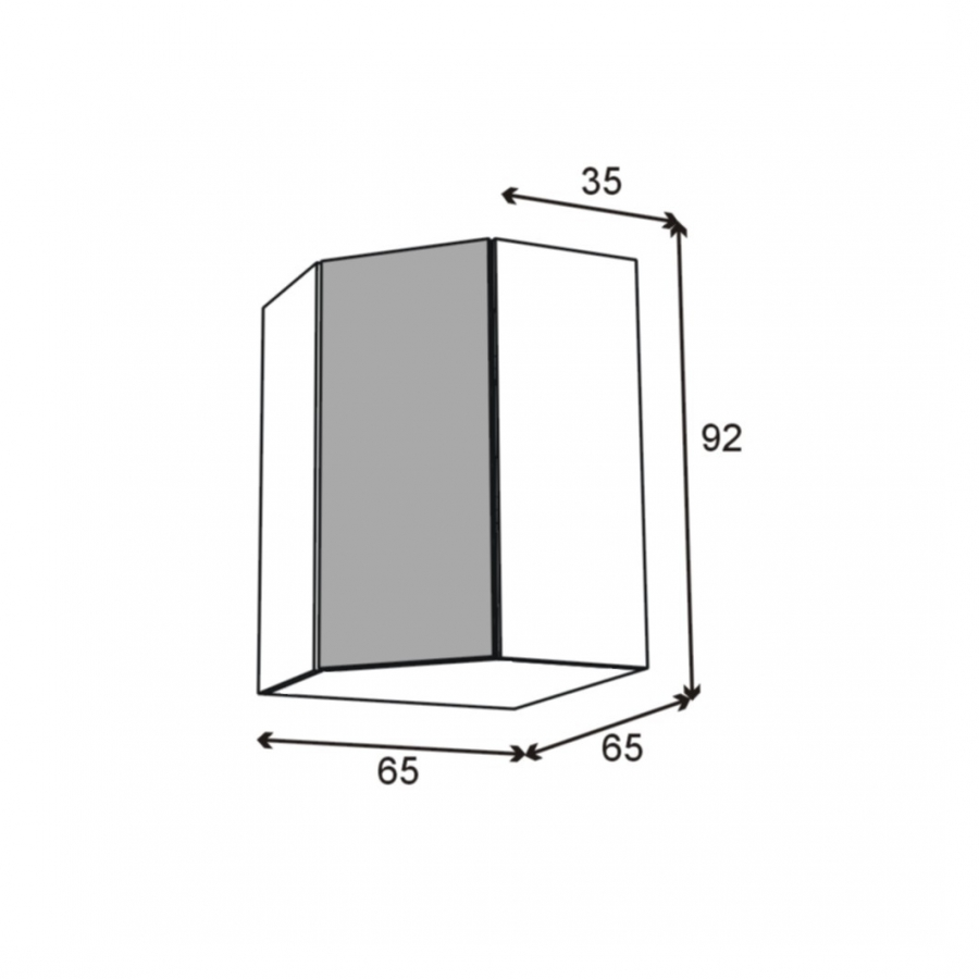 meuble de cuisine angle haut ipoma ch ne naturel tourniquet 1 porte n 86 l40 cm l65 x h92 x p37. Black Bedroom Furniture Sets. Home Design Ideas
