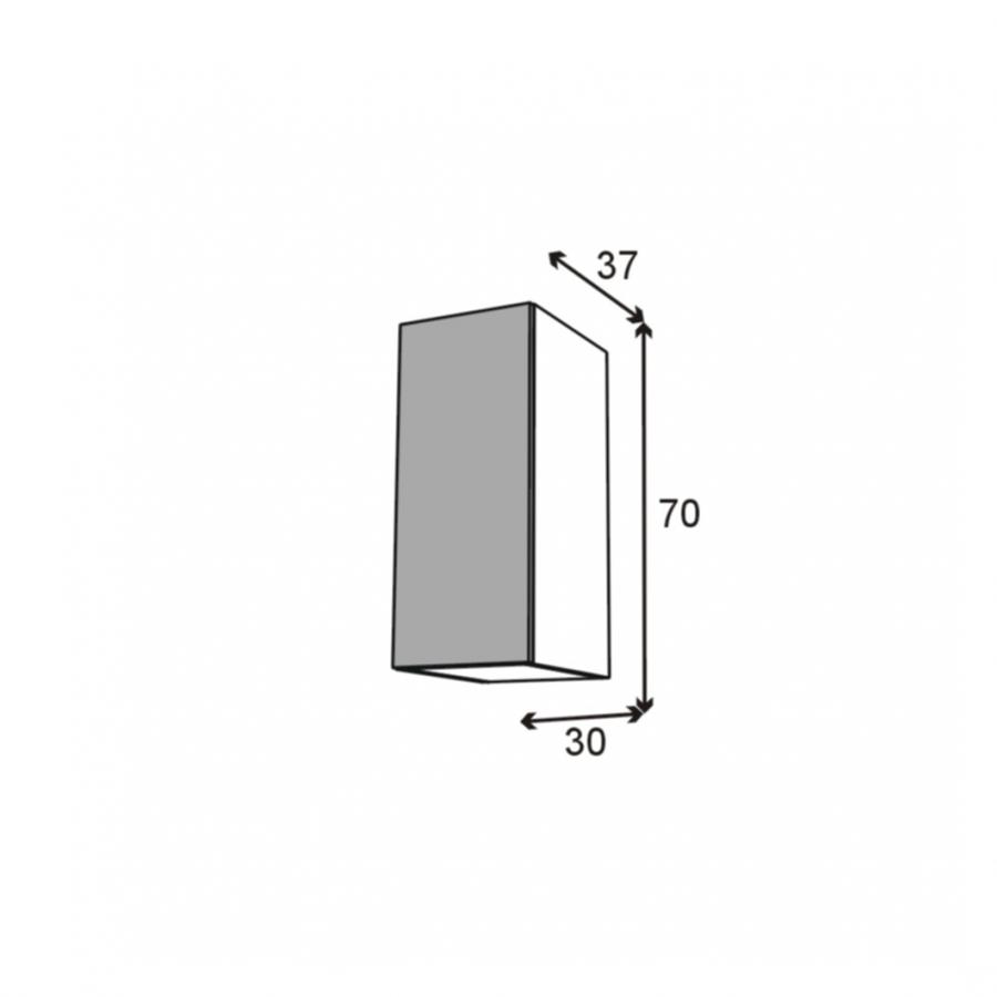 Meuble de cuisine haut ouvrant static blanc 1 porte l30 x for Meuble haut 110 cm