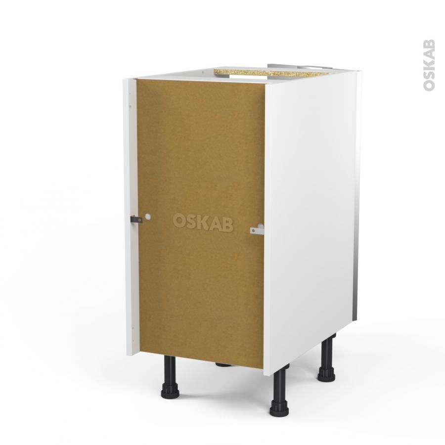 Meuble de cuisine bas vitr fa ade alu 1 porte l40 x h70 x for Facade porte pour meuble de cuisine