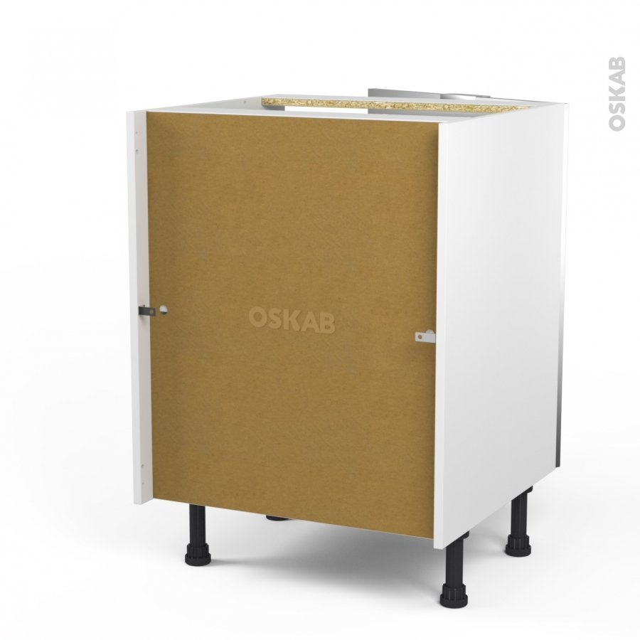 Meuble bas cuisine fa ade alu vitr e 1 porte l60xh70xp58 sokleo oskab for Comfacade de meuble de cuisine
