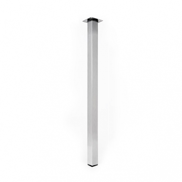 Pied de table carr inox bross r glable h110 6 sokleo for Pied de table cuisine