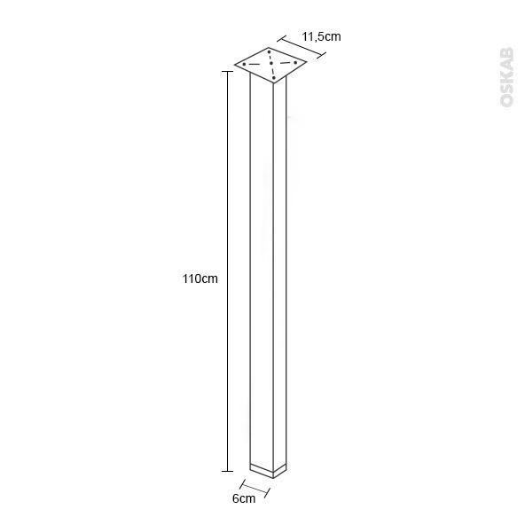 pied de table carr finition inox bross r glable h110 6 sokleo oskab. Black Bedroom Furniture Sets. Home Design Ideas