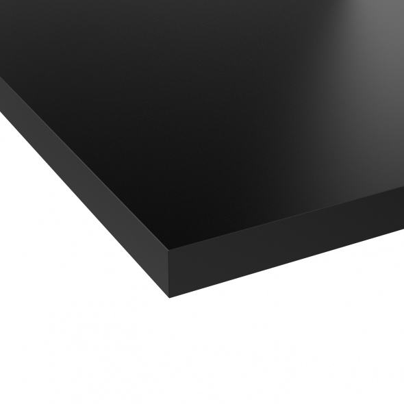 plan de travail n 112 d cor noir mat chant noir mat l205xl62xe3 8 planeko oskab. Black Bedroom Furniture Sets. Home Design Ideas