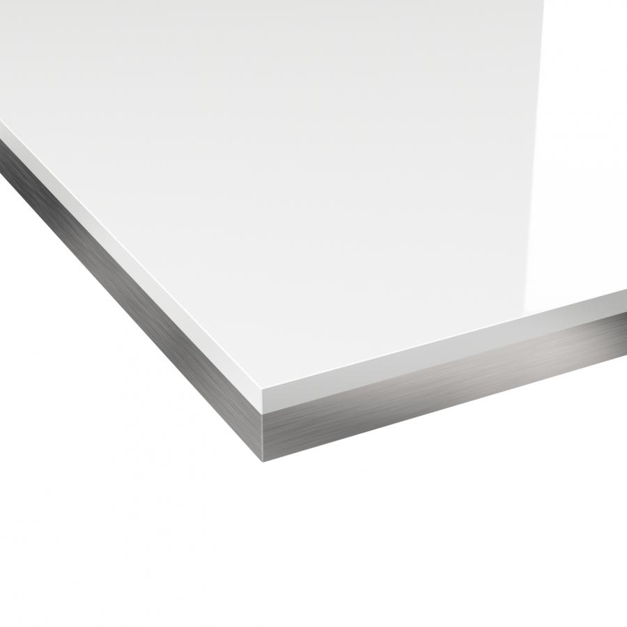 chant plan de travail blanc brillant bicolore n 105 bande de chant cuisine l304 x l4 5 x e0 1 cm. Black Bedroom Furniture Sets. Home Design Ideas