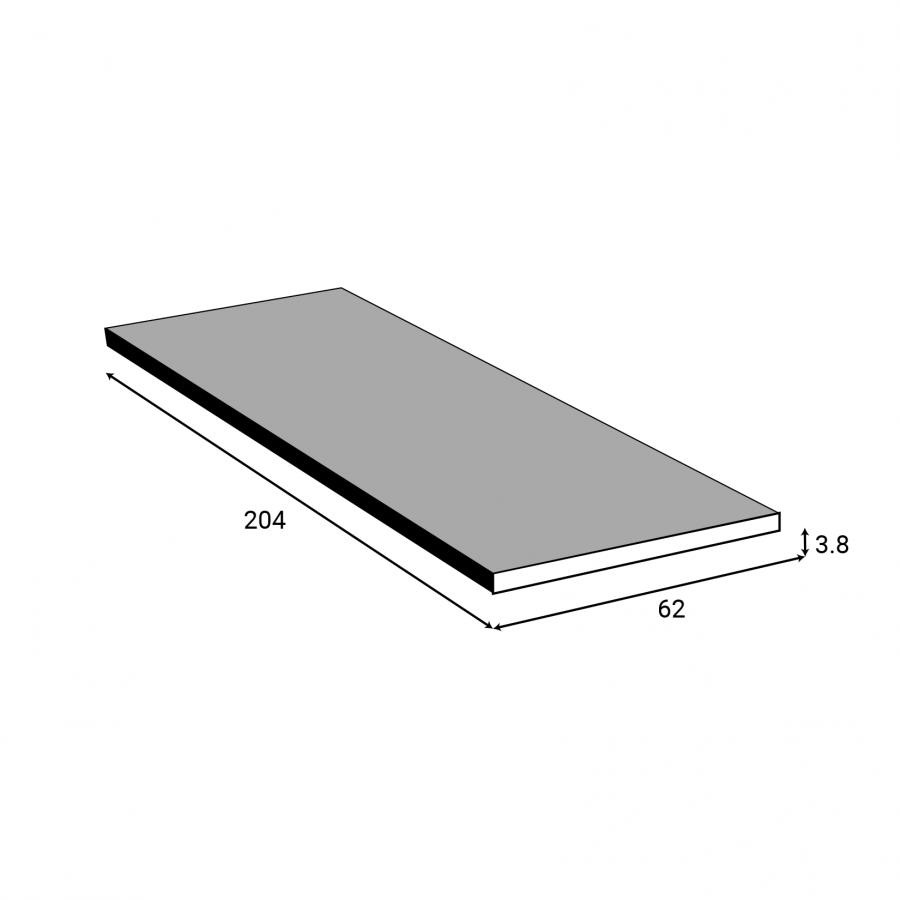 plan de travail n 303 d cor granit noir chant granit noir l205xl62xe3 8 planeko oskab. Black Bedroom Furniture Sets. Home Design Ideas