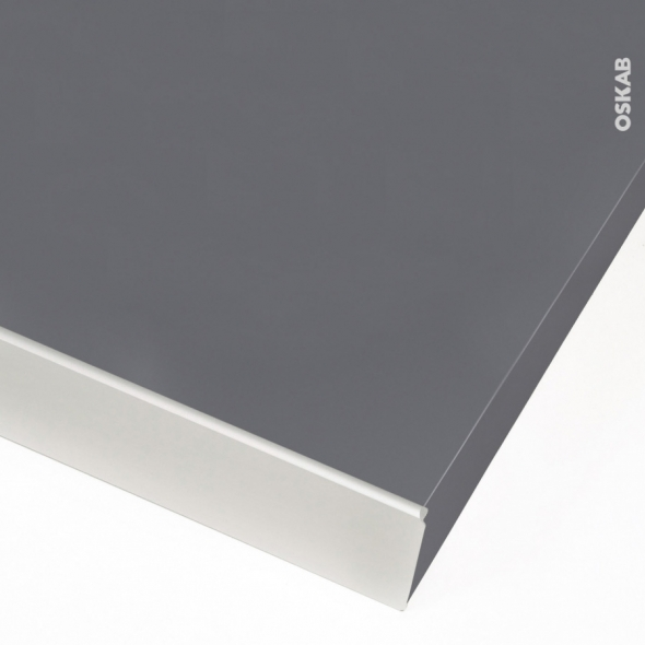 profil finition alu plan de travail 38mm bord droit planeko oskab. Black Bedroom Furniture Sets. Home Design Ideas