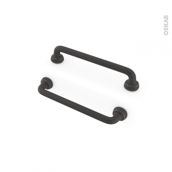 Poign e de meuble de cuisine n 60 acier noir mat 14 8 cm - Poignee et bouton de cuisine ...